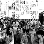 1-mei - demonstratie in de Haarlemmerstraat 1981.