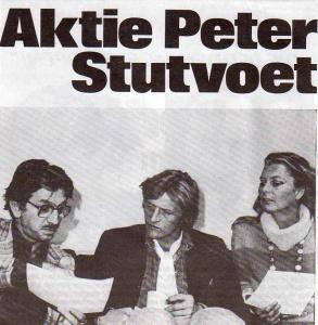 Rutger Hauer overlegt met Daan Monjé van de SP over de Peter Stutvoetactie