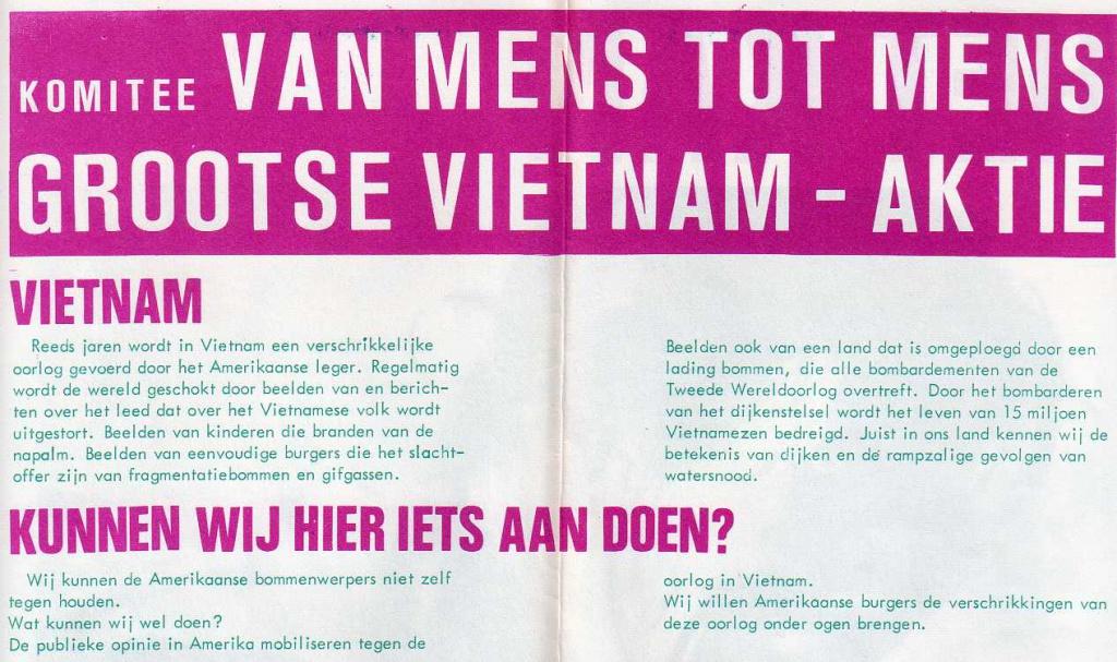 Pamflet van 'Van Mens tot Mens'