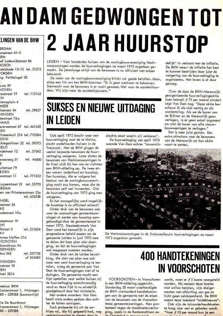 BHW-Buurtkrant 4/1974