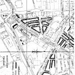 Plattegrond uit 1973 van Fasson Lammenschansweg met de door het MAN bezochte omringende straten (zwart gemarkeerd)