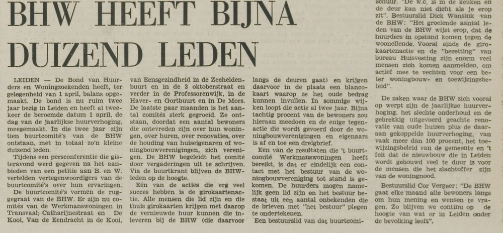 BHW stad LD 3 april 1973