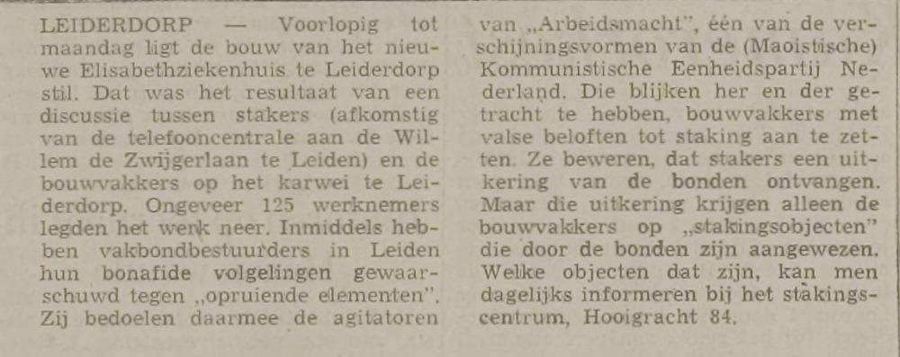 Uit Leidse Courant 14-5-1971