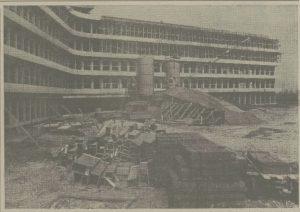 Bouw bij St Elisabeth Ziekenhuis ligt plat. Leidse Courant 14-5-1971