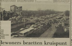 blokkade kruispunt 22 januari1980 LC 23/1/79