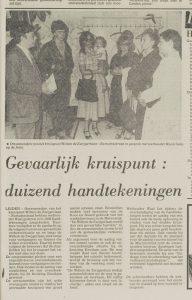 Wethouder Waal, mw. Groenendijk, Mw. Montanje, Cor Vergeer (naast Waal)