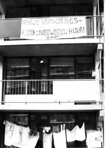 BHW Merenwijk 1974. Actie tegen hoge nieuwbouwhuren