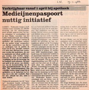 Leids Nieuwsblad 19 maart 1986