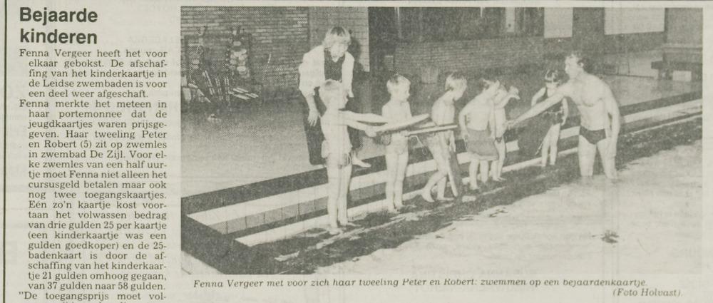 zwembad De Zijl Fenna met Peter en Robert