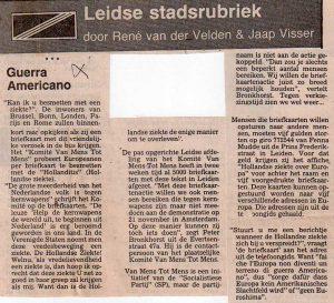 Leidsch Dagblad 2/11/1981